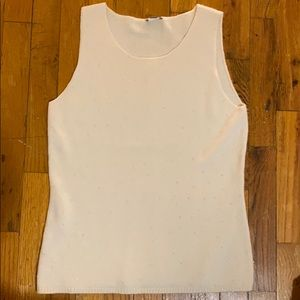 Ann Taylor cashmere beaded tank top